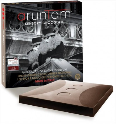 Gianduja Fine Dark Chocolate 72 ½ con Nocciole IGP - 60gr. - Aruntam