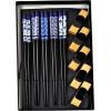 5 Coppie di Bacchette Blu con Portabacchette - La Finestra sul Cielo
