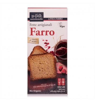 Fette biscottate di Farro Biologiche - 200g - Sottolestelle