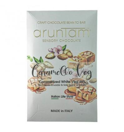 Caramello veg 48% bianco con sale di cervia Biologico - 50g - Aruntam